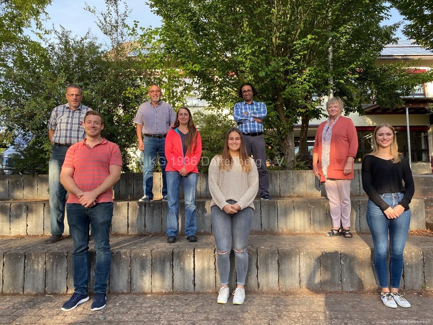 KG-Vorstand in 2020 (es fehlen Anja, Britta und Frank)